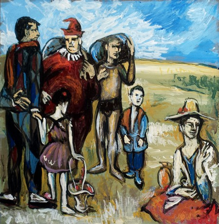 Small copy of Picasso painting Family of Saltimbanques