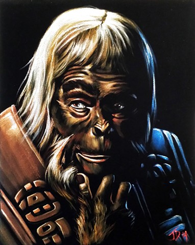 Portrait of Dr Zaius on Velvet