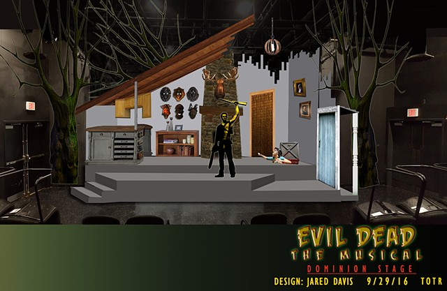 Scenery sketch of Evil Dead the Musical