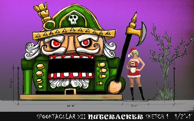 Evil Nutcracker design for Halloween Party