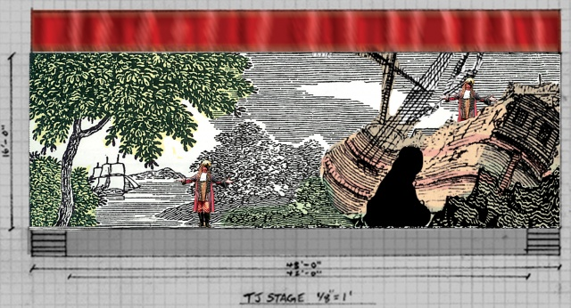 Set Design for Pirates of Penzance, The Arlington Players