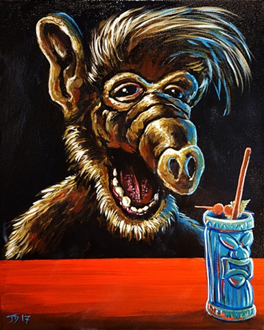 Painting of ALF