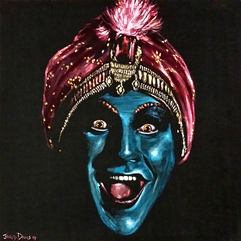 Large Velvet Painting of Jambi the genie
