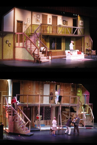 Act I and II of Noises Off, Arlington Players 2005