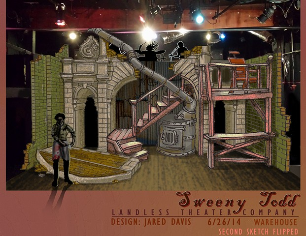 Set design rendering for Sweeny Todd Prog Metal Version