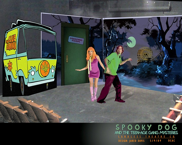 Set Design for Spooky Dog and the Teenage Gang Mysteries