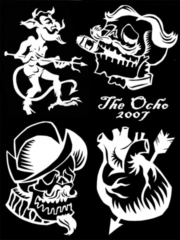 Designs for Halloween 2007 Stencil Prints