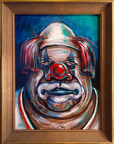 Creepy Clown Painting number 2 Fat clown