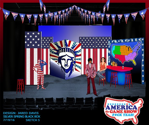Set design for America the Game Show F*ck Yeah!