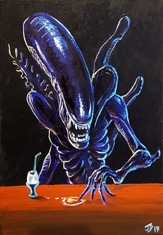 Painting of an Alien