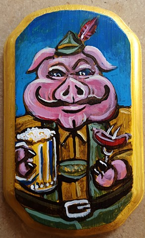 Painting of a Oktoberfest Pig
