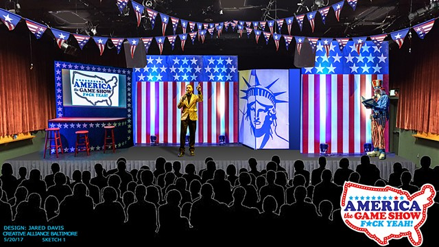 Set Design for America The Game Show F*uck Yeah