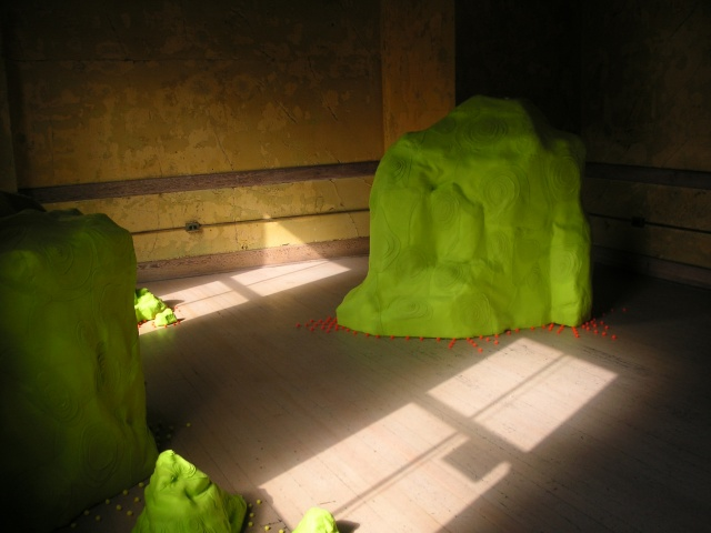 Green Mounds Installation View 2