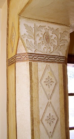 gold-bronze-European-inspired-decoratively-artful-entry-arch-pillar-rustic