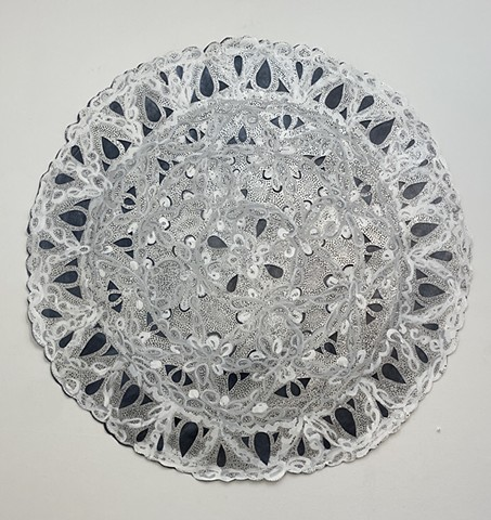 White Holey Doily
