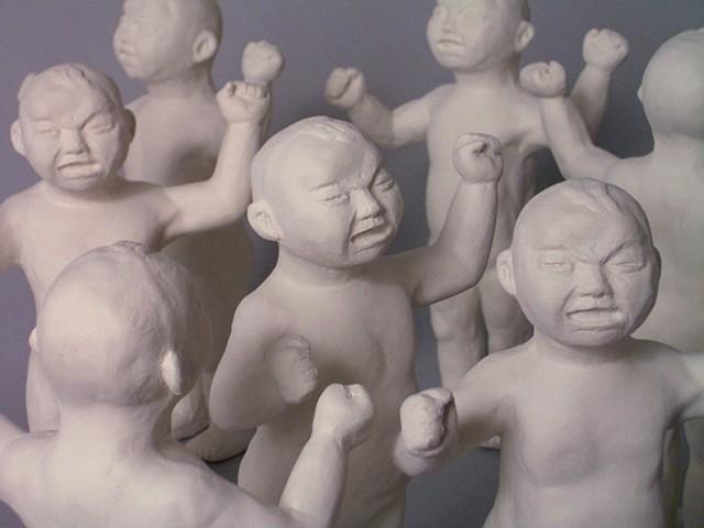 David Kagan ceramic babies Gober figural Whitney MoMA biennial gallery Chelsea sculpture