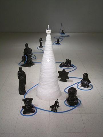 David Kagan ceramic babies Gober figural Whitney MoMA biennial gallery Otterness Chelsea sculpture soft light installation