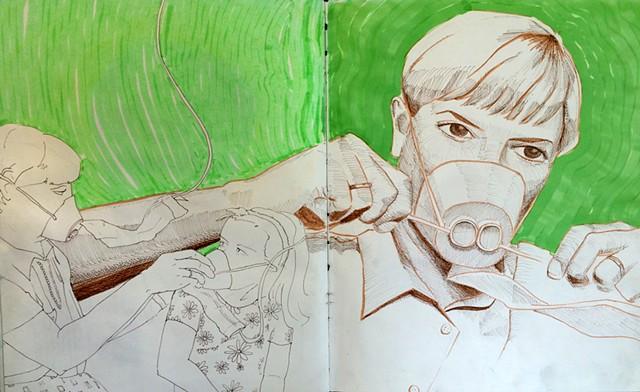 Found Object Sketchbook Illustration