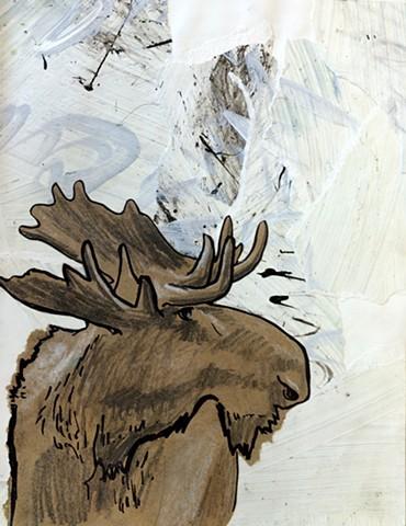 Sketchbook Moose Study