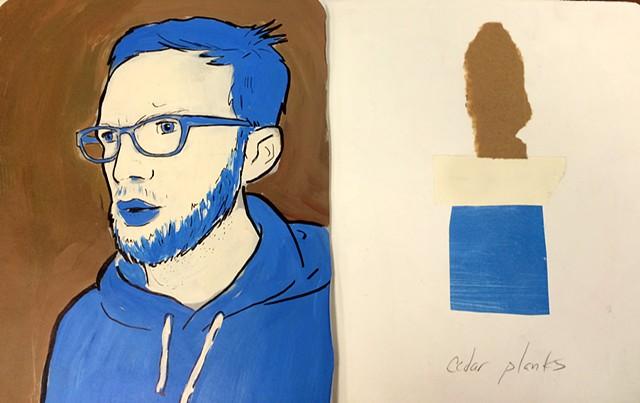 Color Palette Graphic Portrait