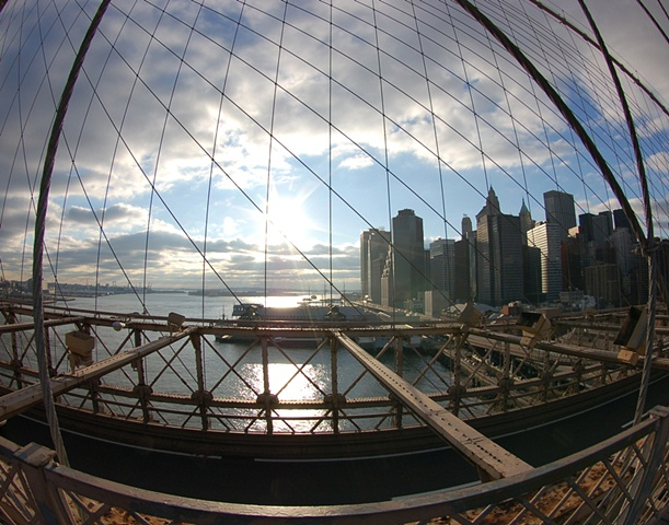 Fisheye View from the Brooklyn Bridge2