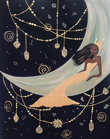 Moon goddess taking over the universe