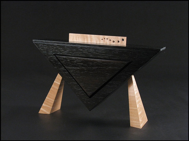Wooden Vessel ebonized walnut and maple