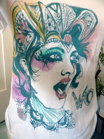 Flapper hand painted T