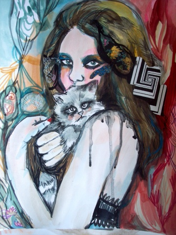 Portrait of Cat Lady