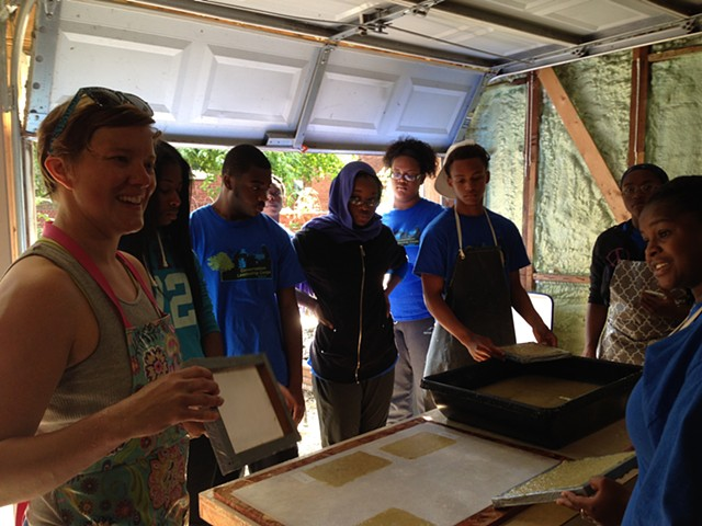 Paper-making with SCA Youth