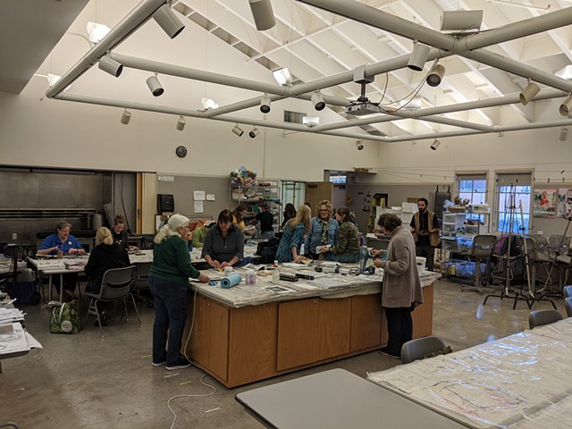 Image of an Image Transfer Workshop I led at Mendocino College in Ukiah, CA.