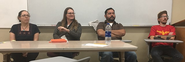 Participating in a panel discussion about Identity in Art at Sierra College, Rocklin, CA. 2018