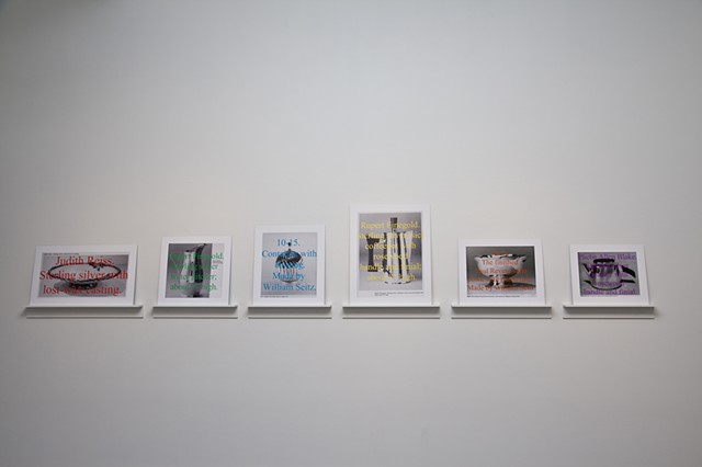 Images of Silver Objects, installation view at the ICA at Maine College of Art