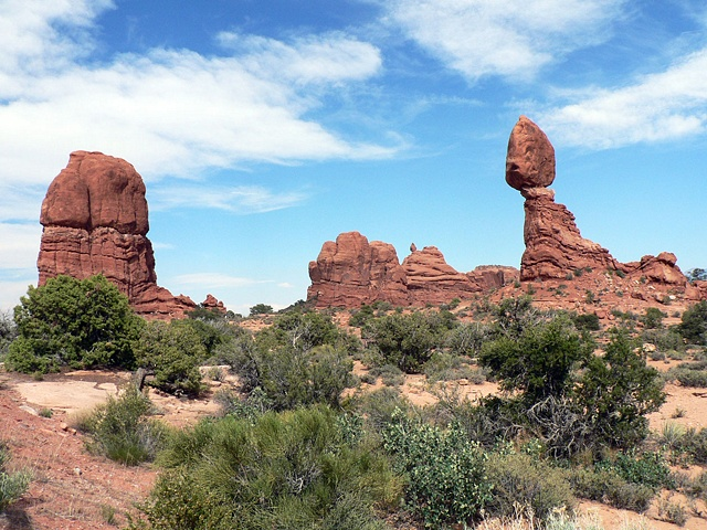 Balanced Rock,  Arches National Park, Utah