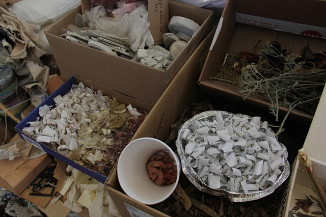 By-Products of the 2013 CCA MFA Show: Two Months of Material Collected from the Graduate Fine Arts Studios Making the Show Zero Waste (detail)