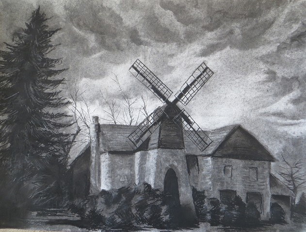 Abandoned Building/Landscape Drawing