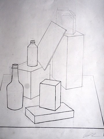 Still Life Drawing, Measuring/Line Weight