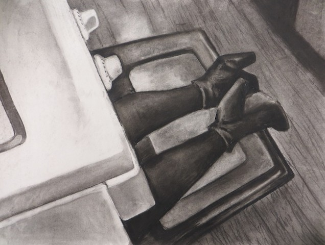Impossible Feet Drawing