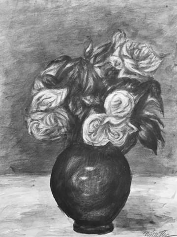 Vase of Flowers Drawing