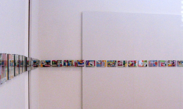 "Wall Detail of  ""+/-200 Collage Installation"""