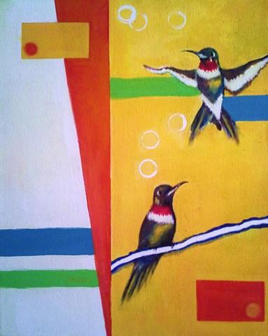Hummingbirds SOLD