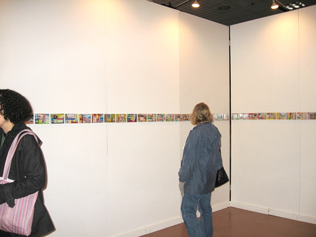 view of collage installation