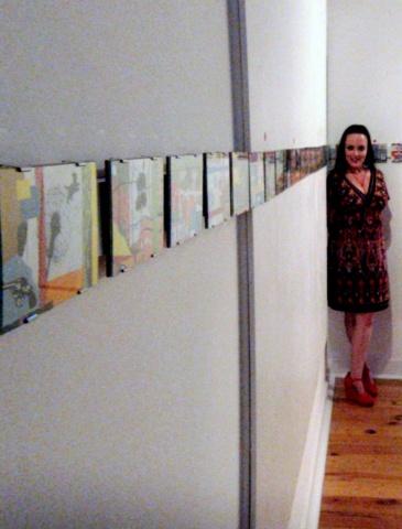 Collage installation at Bihl Haus