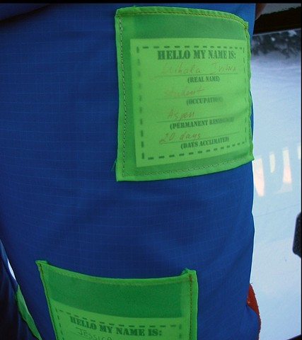 Acclimation Suit with pockets and reverse name tags