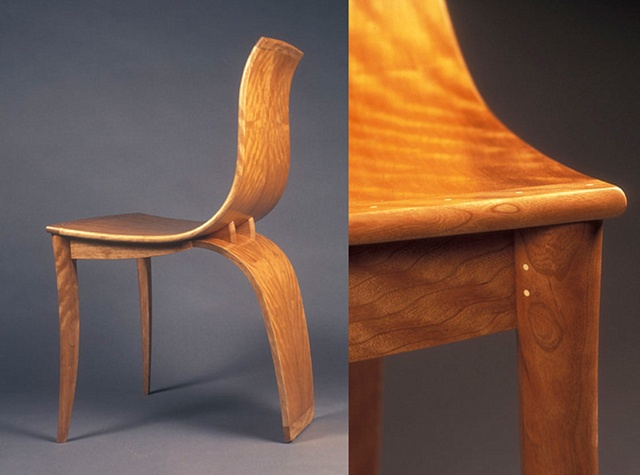 Curly Cherry Dining Chair