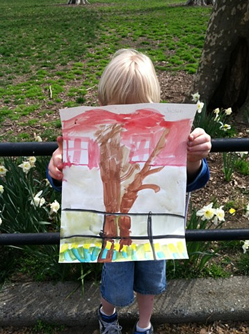 Outdoor painting, Kindergarten