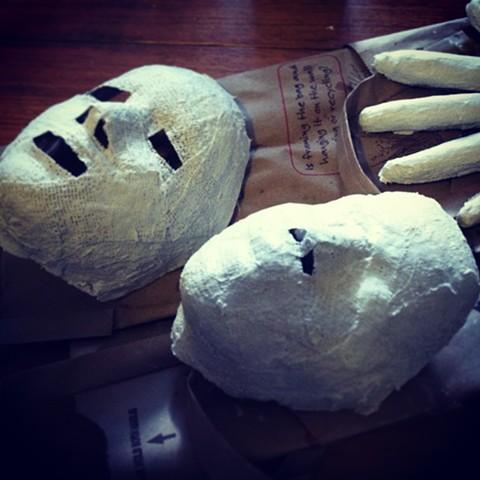 Masks, 3rd grade and 8th grade