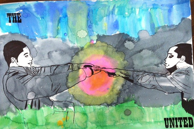 Parent Art Program collaborative work