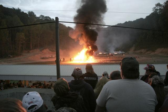 Watching (burning rubble)