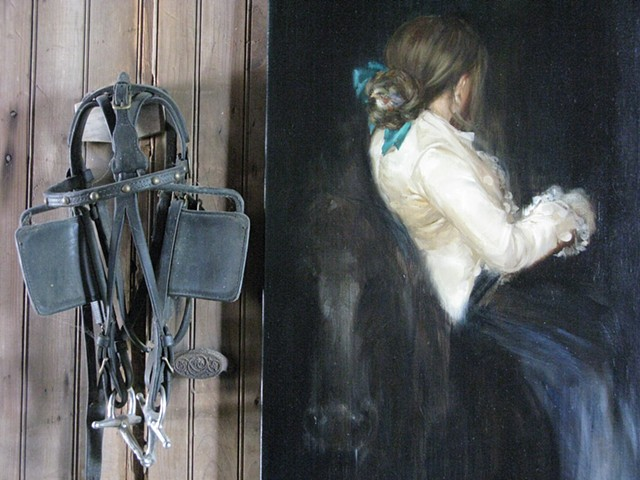 Florence and the Blind Finch (detail with Saturday's bridle)